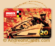 Max Karting plastic gift cards