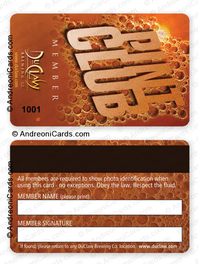 Plastic Membership Card Design Sample | Pint Club  Membership Card Samples