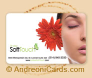 Softouch plastic gift card