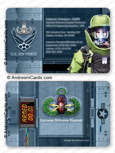 Plastic business card design | USAF